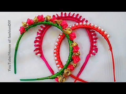 3 DIY Hair Bands for Littile  Girls||Silk thread Hair Bands||Ribbon Hair Bands..!