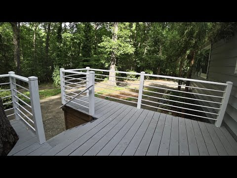 How To - Inexpensive Porch Rail Renovation Using PVC Pipe