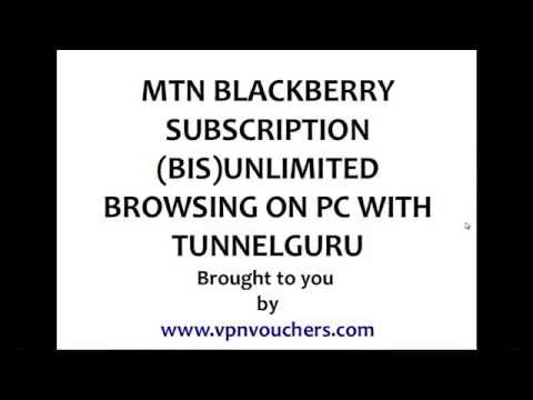 MTN BIS Unlimited Free Browsing On PC With Tunnelguru