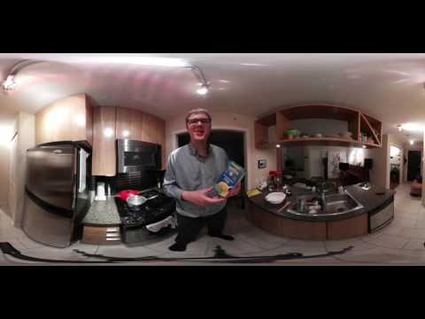 How to Make Annie's Macaroni and Cheese Without Milk or Butter - Samsung Gear 360 Video in 4k