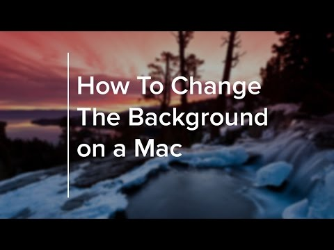 How to Change the Background on a Mac