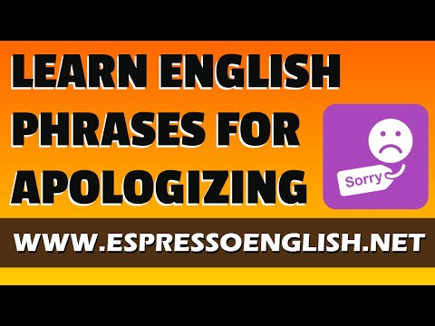Learn English Phrases for Apologizing