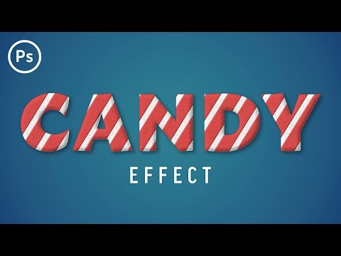 Christmas Candy Text Effect | Photoshop Tutorial