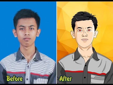 Tutorial Photoshop How to make anime or cartoon effect with your pict self