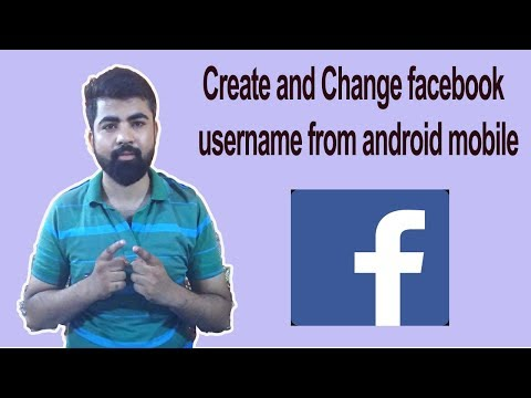 How to Create and Change facebook username from android mobile !! Hindi !!