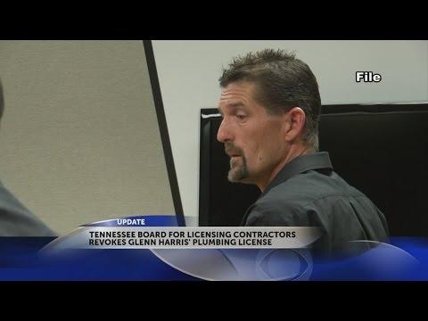 State board revokes plumbing license for Tri-Cities plumber Glenn Harris