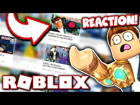 REACTING TO MY FIRST EVER ROBLOX VIDEOS!!