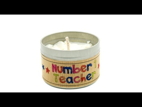 Kid Friendly Candle Gift for Teachers with Customisable Label