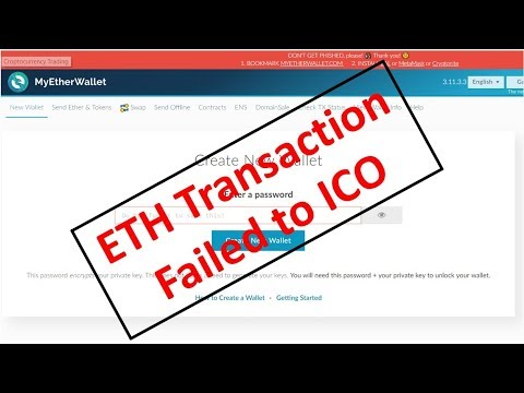 What Happens If You Send ETH From MEW Too Early (Or Too Late) (MyEtherWallet)