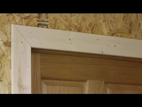 How to Install Door Trim on a Jamb That Is Not Square : Trim Installation & Maintenance