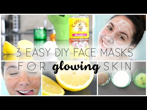 3 Easy DIY Face Masks ♡ For GLOWING Skin!