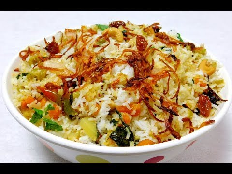 Vegetable Biryani Recipe | വെജിറ്റബിൾ ബിരിയാണി ഉണ്ടാക്കുന്ന വിധം ( English Subtitles)