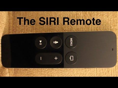 The Apple TV SIRI remote
