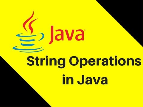 9.1 String Operations in Java Tutorial | Lecture