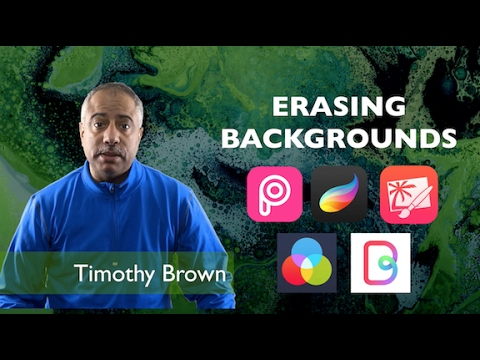 Erase Backgrounds Using iPad Apps