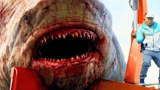 Megalodon Jumps Out Of Water Scene - The Meg (2018) Movie Clip HD
