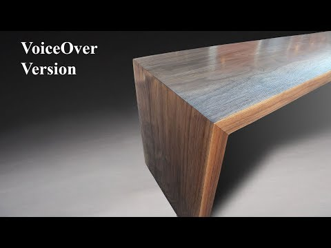 Building a mitered modern waterfall bench