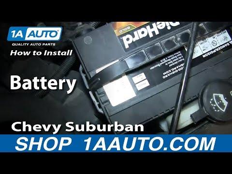 How To Install Replace Battery 2000-06 Chevy Suburban GMC Yukon XL