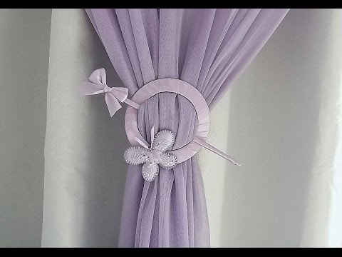 HOW TO MAKE CURTAIN TIE-BACK FROM OLD CD PLAYER