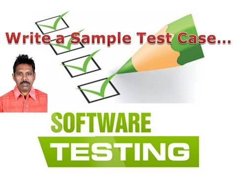 Writing a Sample Test Case