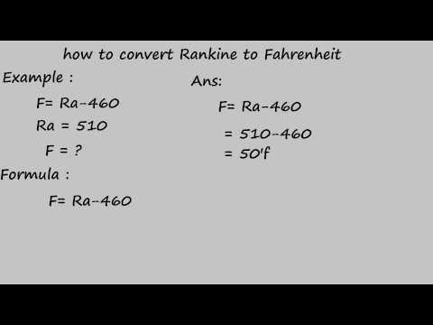 how to convert rankine to fahrenheit