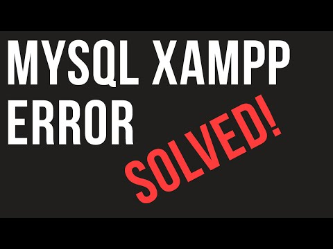 XAMPP mysql error Solved