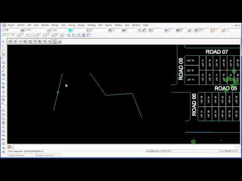 12d Model CAD - Create a Point at the Mid Point of a Line