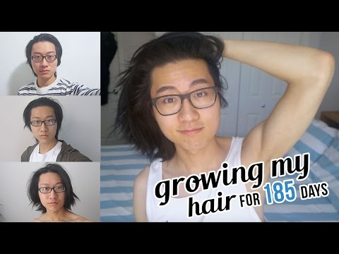 Growing my Hair for 1/2 a Year TIME LAPSE (185 Selfies Everyday)