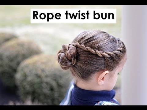 Rope twisted bun - ballet buns - Hairstyle for medium long hair tutorial