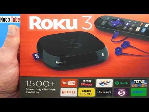 Unboxing £49 Roku 3 Streaming Player Watch Free Internet Youtube TV Shows Netflix Films Set Top Box