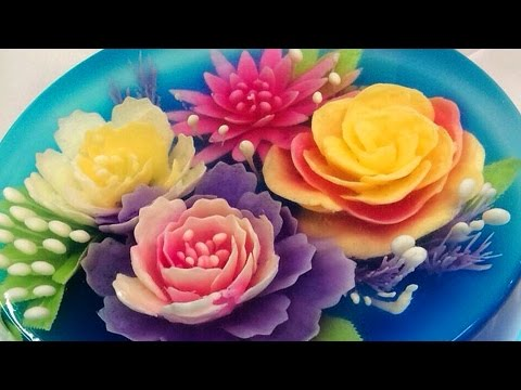 3d JELLY Cake | Flower Jelly Cake