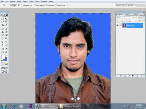 How to change passport size photo background in photoshop  simply (hindi)