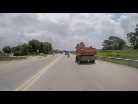 Halong Bay to Hanoi hi-speed timelapse road trip