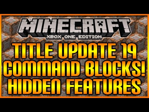 Minecraft: (Xbox360/PS3) TU19 UPDATE - COMMAND BLOCKS & STAINED GLASS - HIDDEN FEATURE! [NEW!]