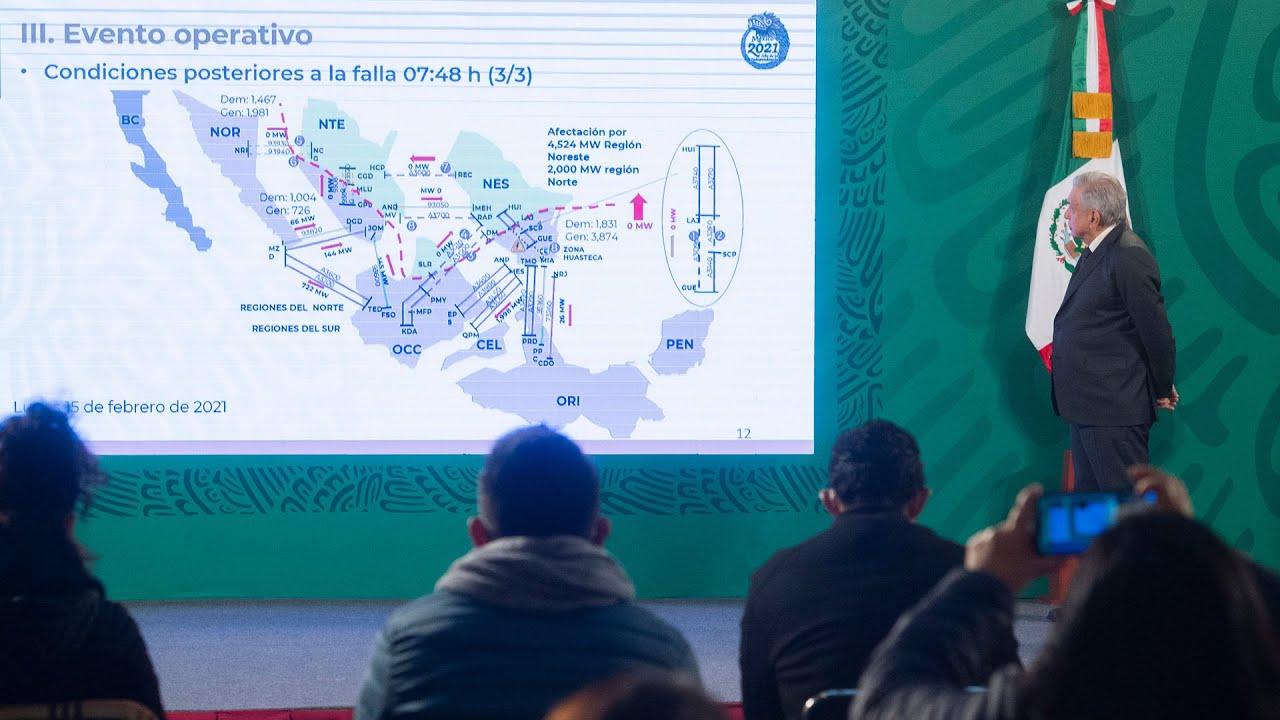 Llamado a ahorrar energía eléctrica para garantizar suministro nacional. Conferencia presidente AMLO