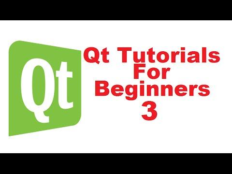 Qt Tutorials For Beginners 3 - First Qt Application