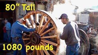 1,080 lb wood wheels; Borax wagons