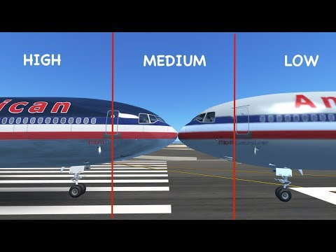 LOW - MEDIUM - HIGH | Graphics on Infinite Flight Global