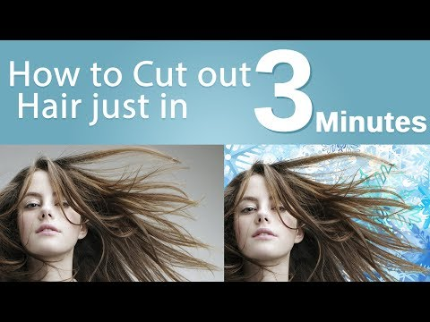 How to Cut Out Hair in Photoshop in 3 minutes background remove