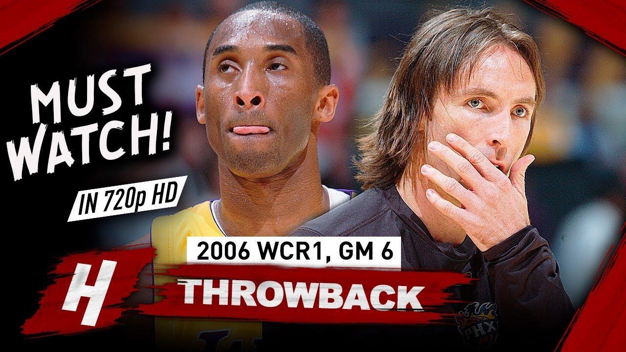 Steve Nash vs Kobe Bryant EPIC Game 6 Duel Highlights 2006 NBA Playoffs - Kobe 50 Pts, CLUTCH Nash!