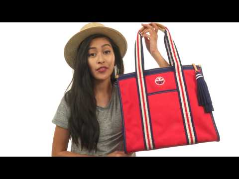 Tory Burch Embroidered-T Tote SKU:8902271