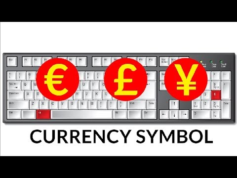 How to get  Euro, Cent, Pound, Yen Symbol in MS word and MS excel with shortcut key