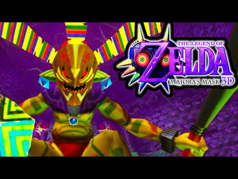 The Legend of Zelda Majora's Mask 3DS Gameplay Walkthrough ODOLWA Boss Fight Woodfall Temple PART 8