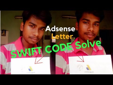 (HINDI) Google Adsense Bank SWIFT CODE Problem Solve ...and  How to Add Bank Account  In Hindi