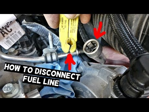 HOW TO DISCONNECT FUEL LINE. FUEL LINE DISCONNECT TOOL