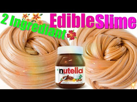 Edible Slime Two Ingredient Nutella Slime ( Fast, Fun Fix Friday) Edible Nutella Slime