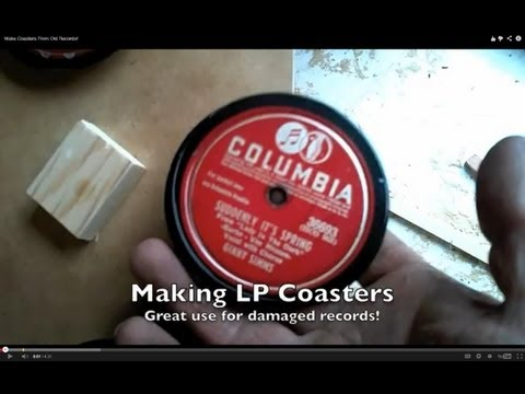 Make Coasters From Old Records!