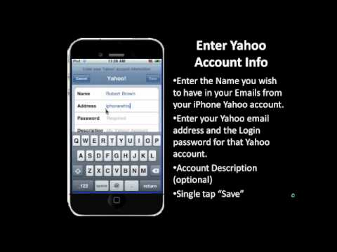 Intall Yahoo email account onto your iPhone in Step by Step Live Video!