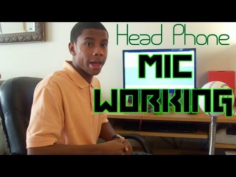 How to get headphone mic working with your computer
