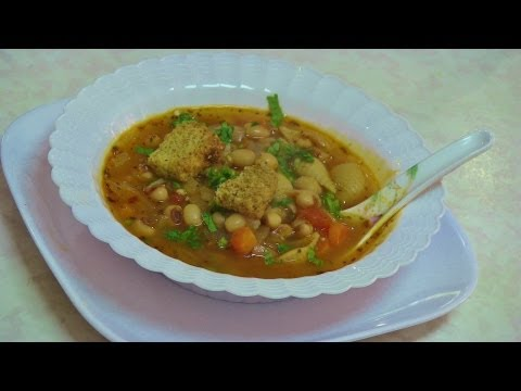 Black Eyed Peas Soup Video Recipe by Bhavna